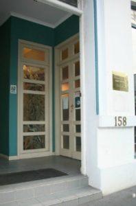 Entrance to 158 Collins St, Hobart