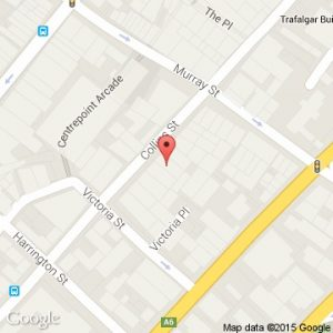 Location map of Collins Dental Centre Hobart